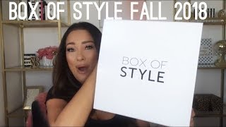 Box of Style Fall 2018 Subscription Unboxing