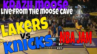 NBA JAM Lakers VS Knicks Streaming Live From The MooSe Cave. April 9, 2019.