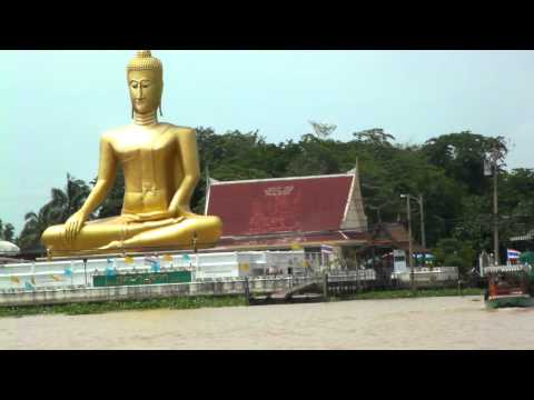 Giant Golden Buddha at Wat Bang Chak – Chao Phraya River – วัดบางจักร