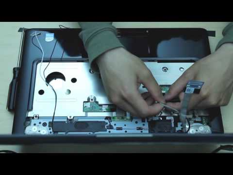 dell inspiron 1545 laptop disassembly remove motherboard/hard drive/ram/dc jack board etc..