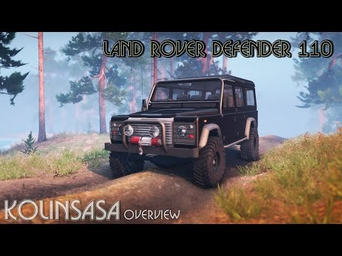 Land Rover Defender 110 black
