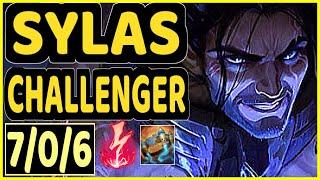 SHIPHTUR (SYLAS) vs AZIR - 7/0/6 KDA MID CHALLENGER GAMEPLAY - NA