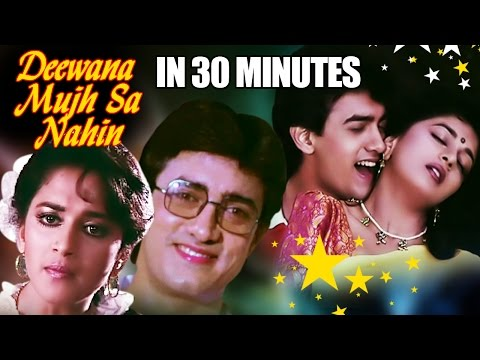 Deewana Mujh Sa Nahi in 30 Minutes | Aamir Khan | Madhuri Dixit | Romantic Bollywood Movie