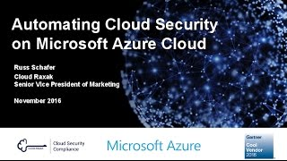 Automating Cloud Security on Microsoft Azure