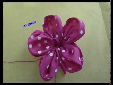 flor de liston para el cabello