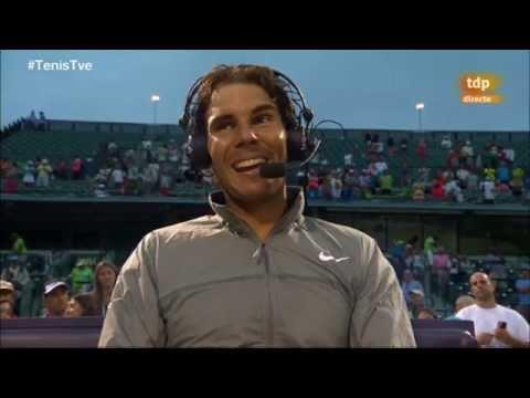 Entrevista a Rafa Nadal después de ganar a Denis Istomin
