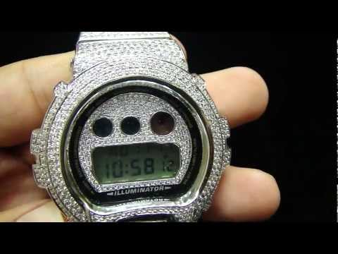 Mr Chris Da Jeweler Custom Lab Diamond Real Stainless Steel Casio G Shock Watch ( Sold Out )