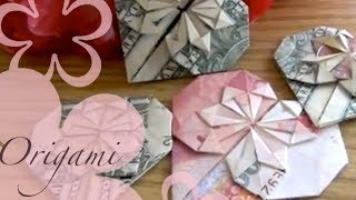 Origami Dollar Heart Tutorial