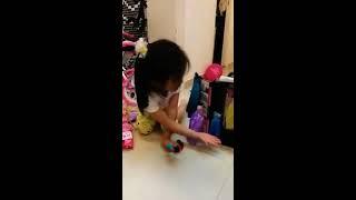 Athena Barbie Girl plays with Barbie Dresses