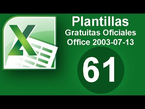Tutorial Excel (Cap. 61) Plantillas Gratuitas Oficiales. Office 2007-2010-2013