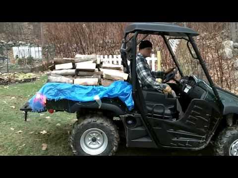 HiSun 700 Hauling Firewood