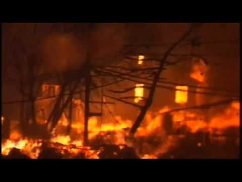 Firefighters Battle 6-Alarm Fire in Breezy Point New York | Hurricane Sandy