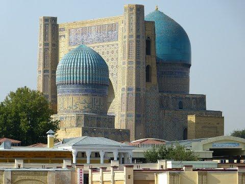 One of the World's Largest Mosque, Bibi Xanom, Samarkand, Uzbekistan