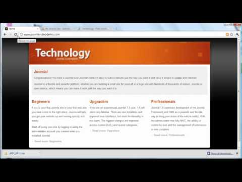 Joomla 1.6/1.7 Tutorial - Lesson 11 - Templates
