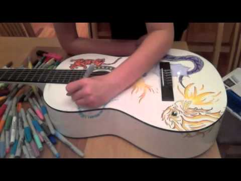 Sharpie-ing Guy s Guitar (Time lapse)