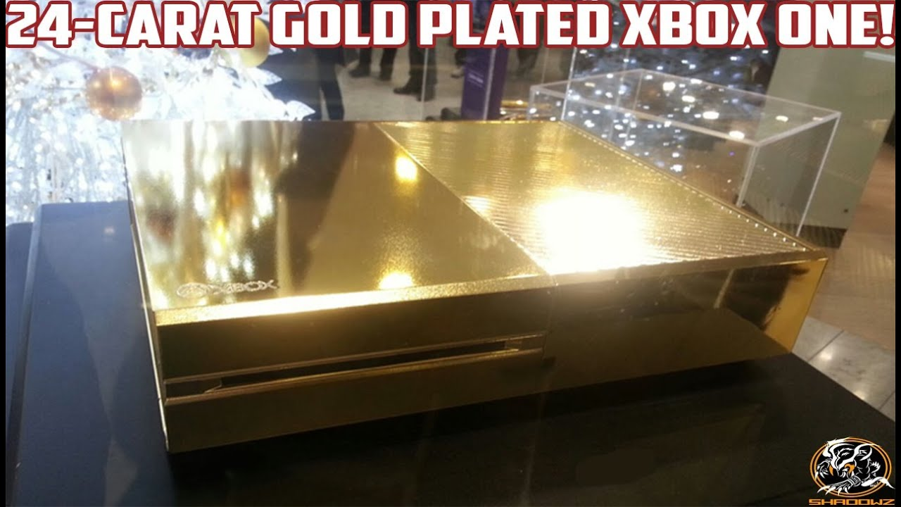 Xbox One Gold 24 Carat Gold Plated Xbox One