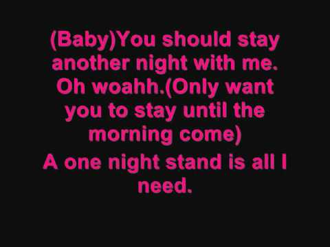 Keri Hilson - One Night Stand Ft. Chris Brown (with Lyrics) video