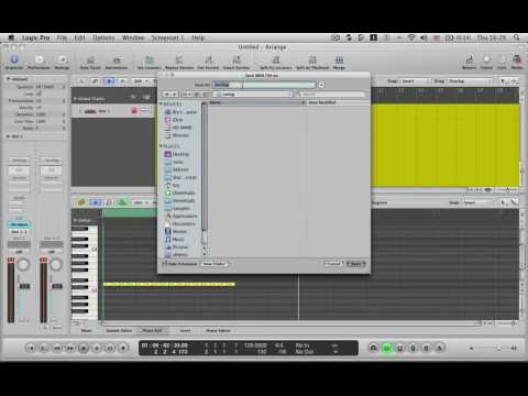 Logic Pro Tutorial - Tech Tip 5 - Extract Logic Pro Swing for Ableton Live Groove