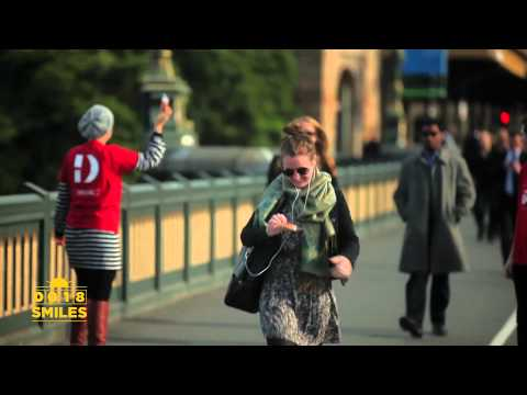 Guerrilla Marketing - Pay with a smile | Project Change
