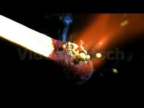 Slow Motion - Streichholz - inflaming burning match - 2,000 fps