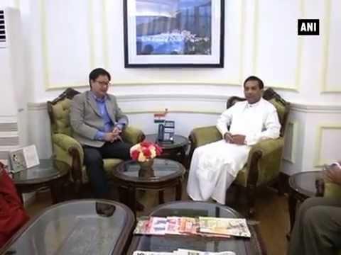 Sri Lanka's Health Minister meets Kiren Rijiju