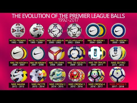 The Evolution of The Premier League balls (1992-2017)