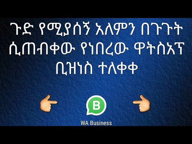ETHIOPIA: WhatsApp Business App