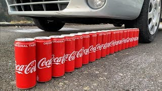 Cushing Crunchy & Soft Things by Car! - EXPERIMENT: CAR VS COCA COLA