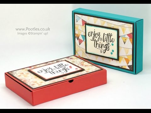 No Glue Foldable Box using Stampin' Up! Supplies