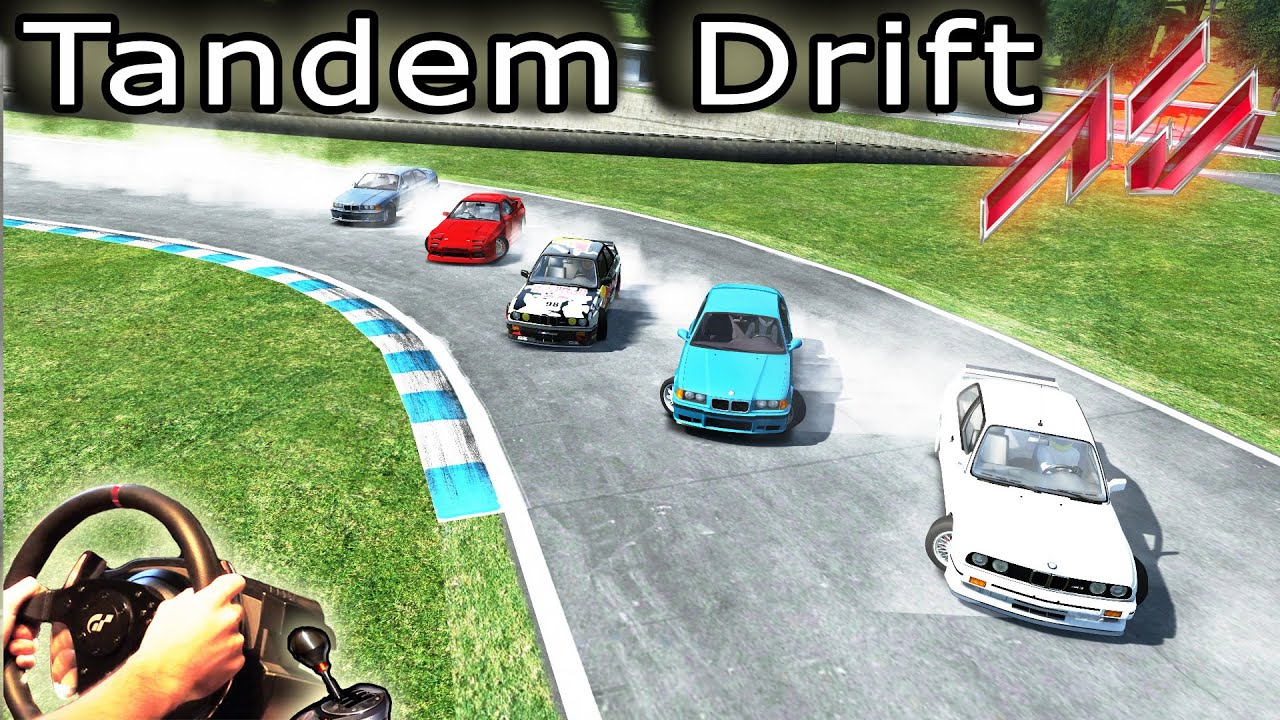 Online Car Simulator >> Tandem Twin Drifting - Assetto Corsa, Multiplayer Online. Driving Simulator +Map Car mods - YouTube