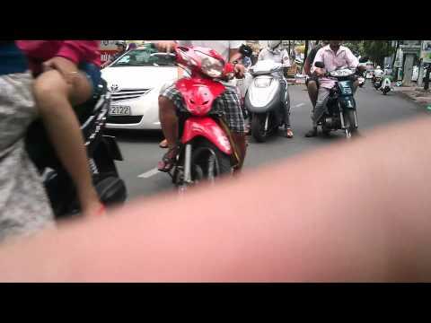 A drive through Saigon (Ho Chi Min City) on Motorbike