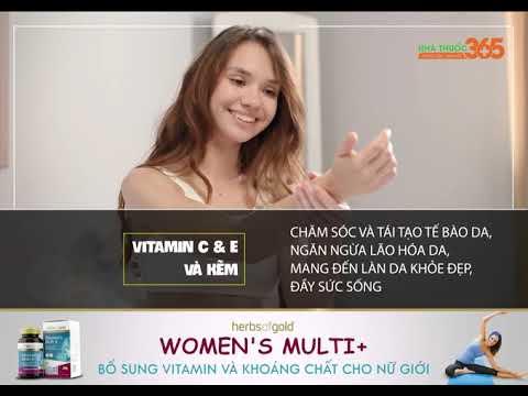 Herbs Of Gold Women's Multi+ - Bổ sung vitamin và khoáng chất cho nữ giới