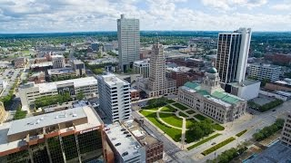 Fort Wayne, Indiana Aerial Shots of Iconic Locations