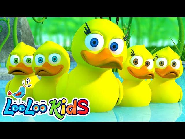 🦆 Five Little Ducks 🦆 THE BEST Song for Children   LooLoo Kids thumbnail