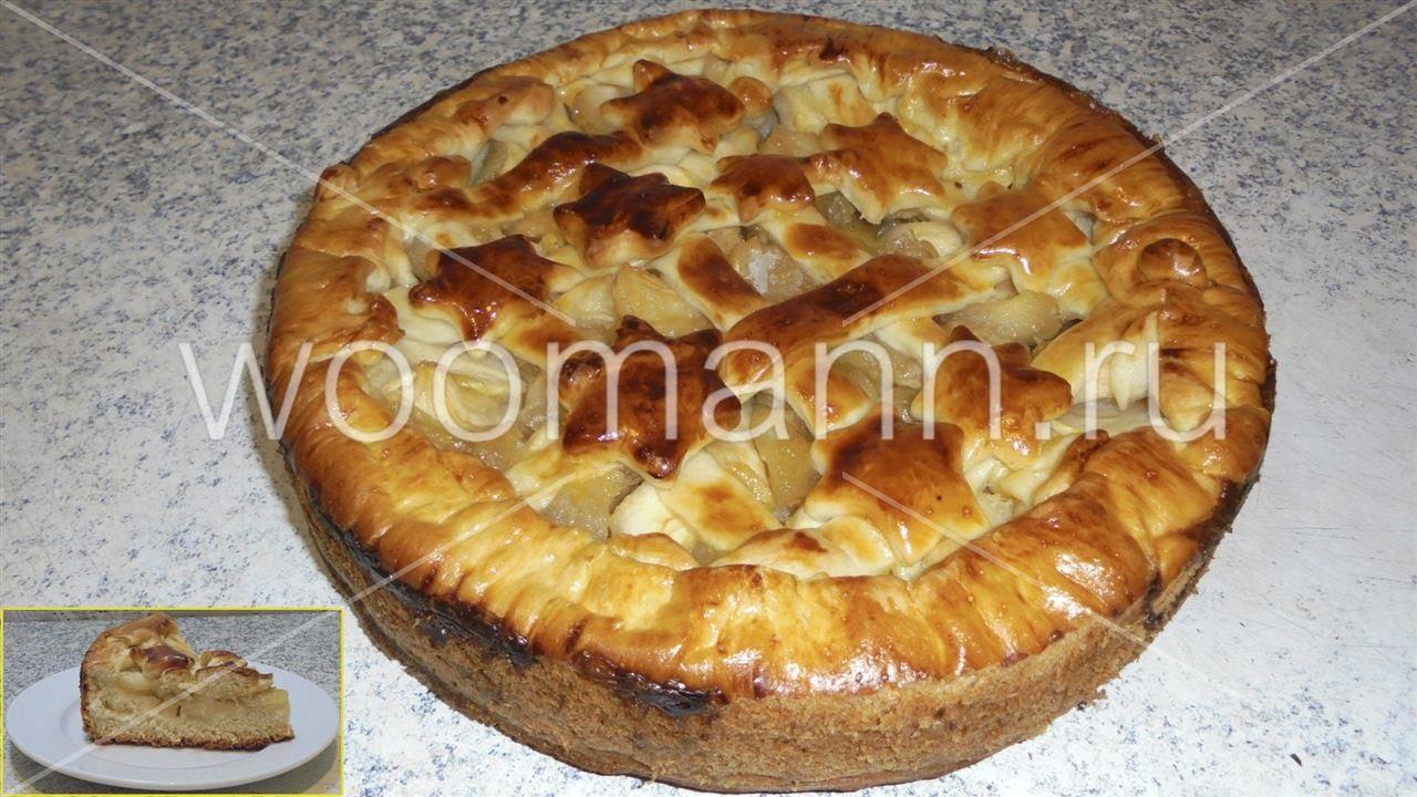 Яблочный пирог рецепты с из дрожжевого теста