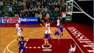 Fox Sports Fails Physics/WTF Moment from College Hoops '99 (N64)
