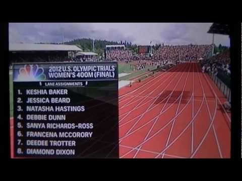 2012 U.S. Olympic trials Women 400m FINAL