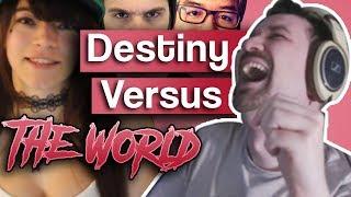 Destiny Debates YouTubers - Ft. Andy Warski, Brittany Venti, Metokur, Asmongold and More