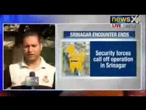 NewsX : Security forces call off operation in Srinagar, Lashkar terrorist manages to escape