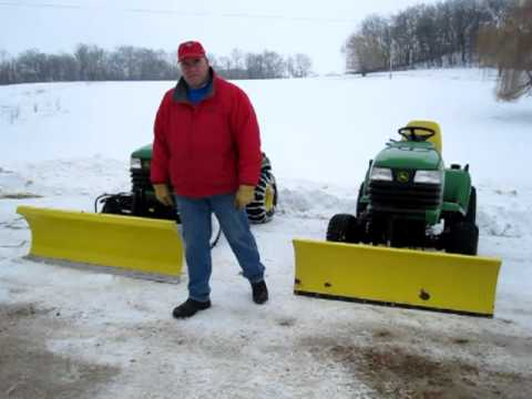 SNOW PLOW FOR JOHN DEERE X595 COMPARISON
