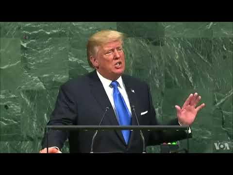 Donald Trump Gives An Address To The 72nd Session Of The United Nations General Assembly