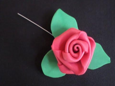 Rosa de EVA - Muito Fácil de Fazer