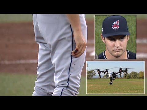 MLB Pitcher Leaves Playoff Game After Finger Kept Bleeding From Drone Accident