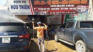 Quy trình rửa xe ô tô chuyên nghiệp tại Garage Hữu Thiên