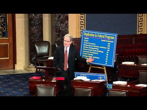 Coburn Urging the Senate to End Duplication, Pass Amendment that Saves $10 Billion