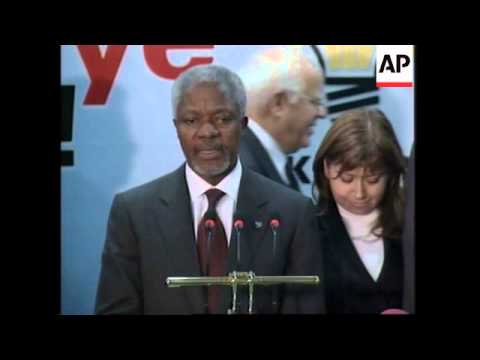 UN Secretary General Kofi Annan holds talks on Cyprus, Iraq