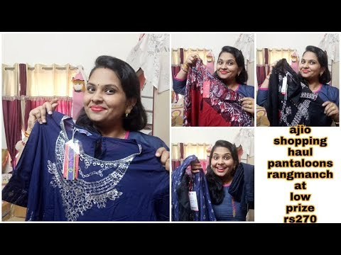 Diwali ajio shopping at low prize #ajioshoppinghaul rangmanch pantaloons western dress haul