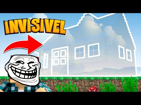 Minecraft: CASA INVISÍVEL !! - (Minecraft Troll) thumbnail