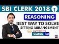 SBI Clerk Pre 2018 | Sitting Arrangement | Reasoning | Live at 11:00 am | Class - 30 thumbnail
