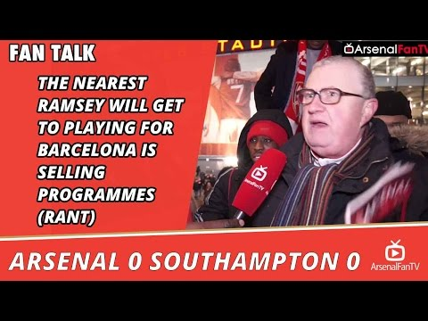 The Nearest Ramsey Will Get To Playing For Barcelona Is Selling Programmes (Rant) AFC 0 SFC 0